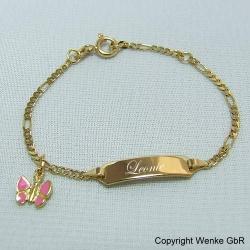 Gold armband fur taufe